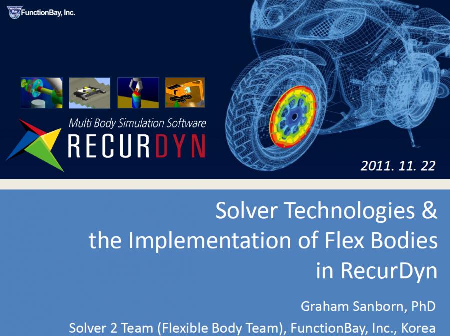 RecurDyn Solver Technologies Implementation of Flex Bodies