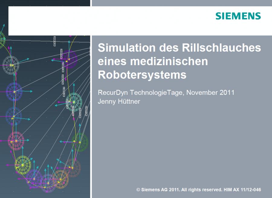 Simulation Rillschlauch
