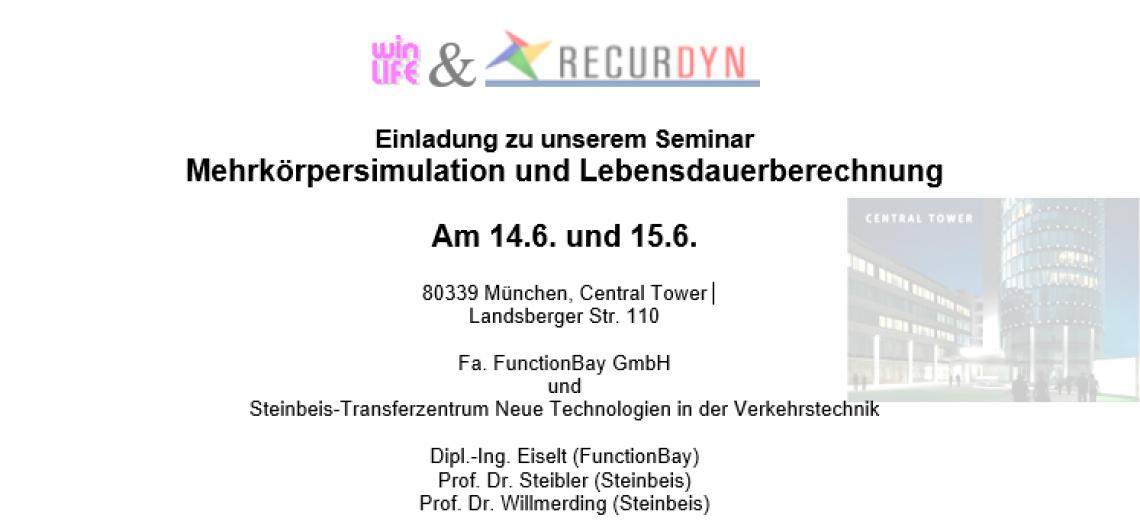 Einladung zu unserem Seminar Mehrkörpersimulation und Lebensdauerberechnung