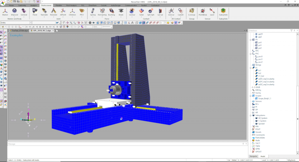 RecurDyn MachineTool Simulation
