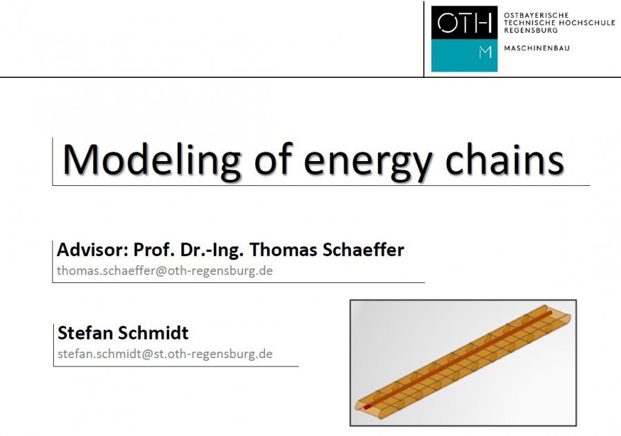 Modeling of energy chains