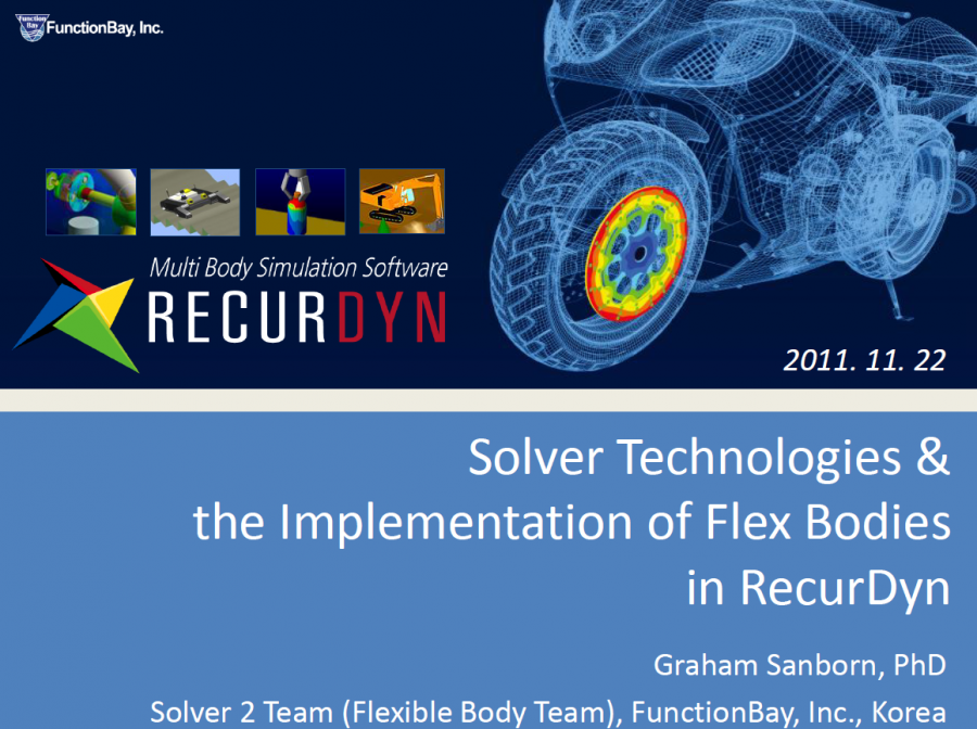 RecurDyn Solver Technologies Implementation of Flex Bodies