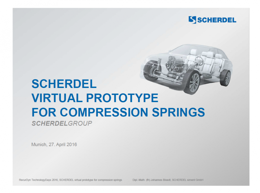 Scherdel Virtual Prototype for Compression Springs